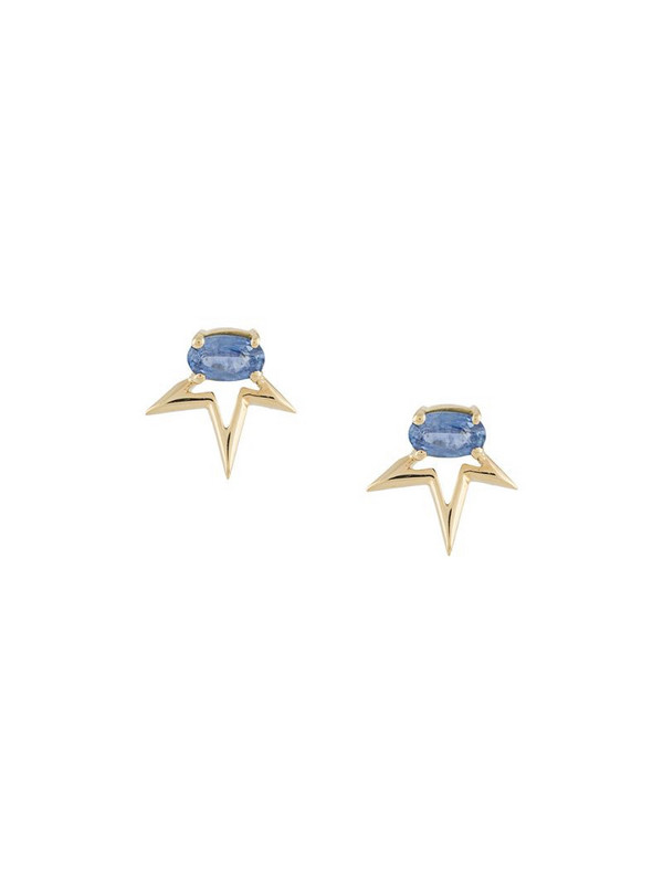 LE STER 18kt yellow gold sapphire Whaam earrings