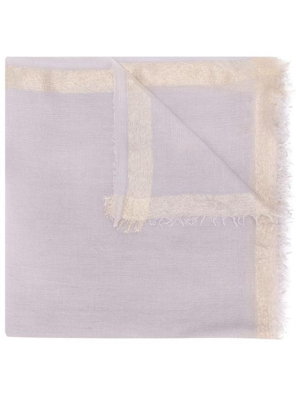 Faliero Sarti metallic border scarf in grey