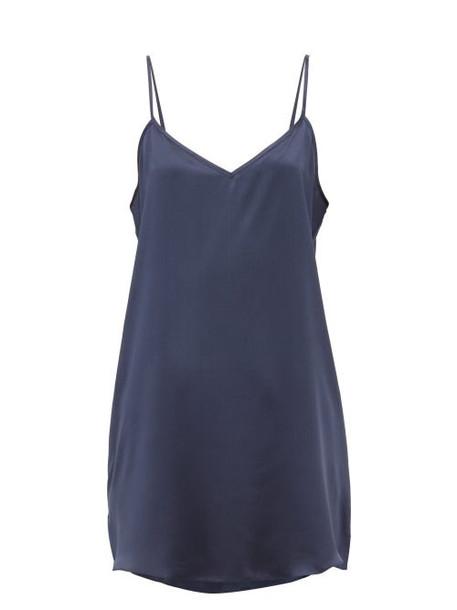 Derek Rose - Bailey Silk Slip Nightdress - Womens - Navy