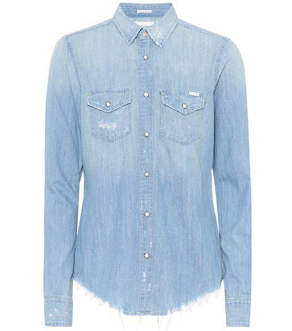 Mother The Honey Chew denim shirt in blue