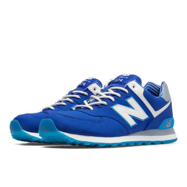 New Balance 574 Street Beat Men's Classics Shoes - Blue, White, Light Grey (ML574SBF)