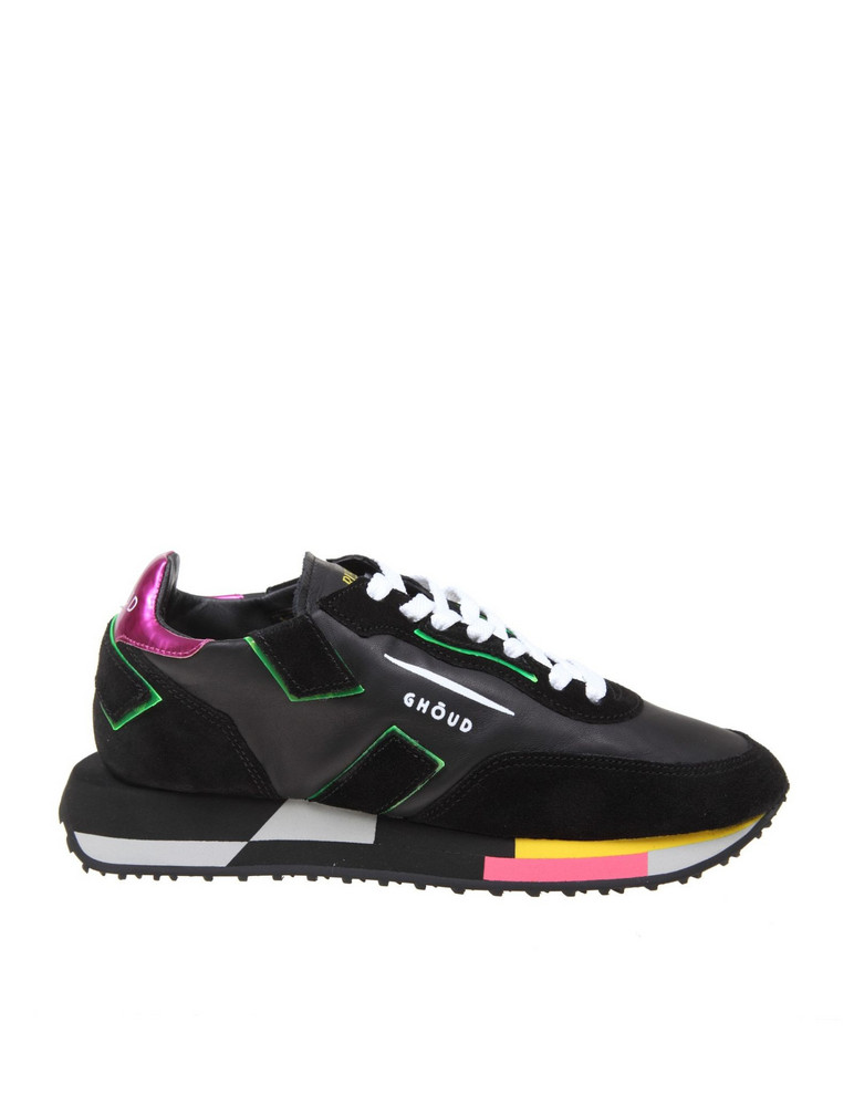 Ghoud Sneakers Rush In Leather And Suede in black