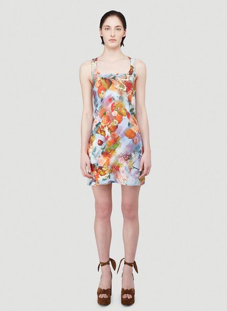 Collina Strada Photographic Print Dress in Black size S
