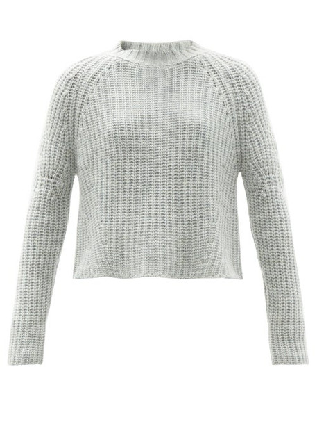 Brock Collection - Sophie Rib-knitted Cashmere Sweater - Womens - Light Blue