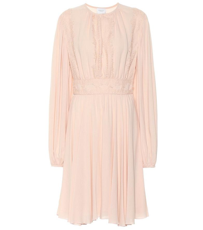 Giambattista Valli Lace-trimmed midi dress in pink