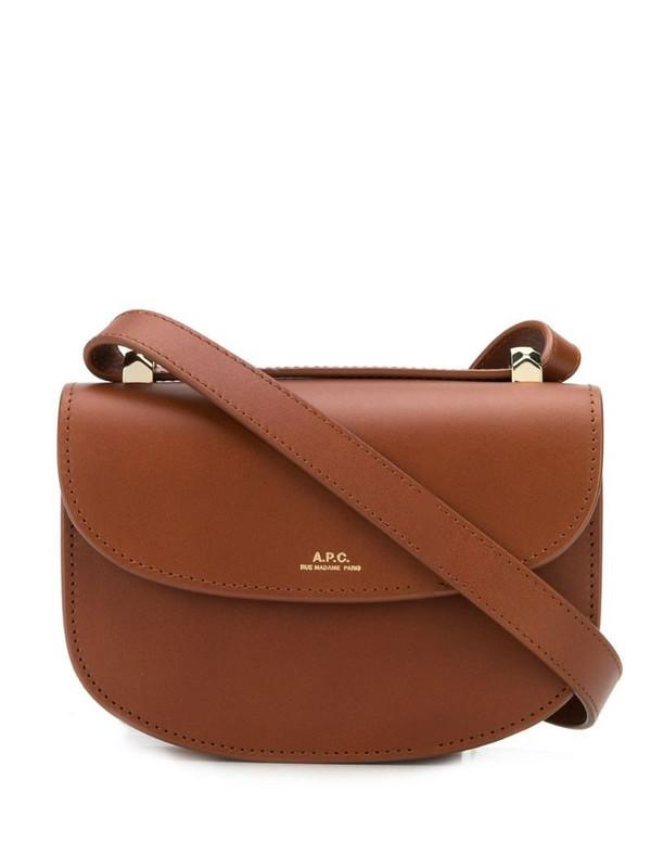 A.P.C. mini Geneve crossbody bag in brown