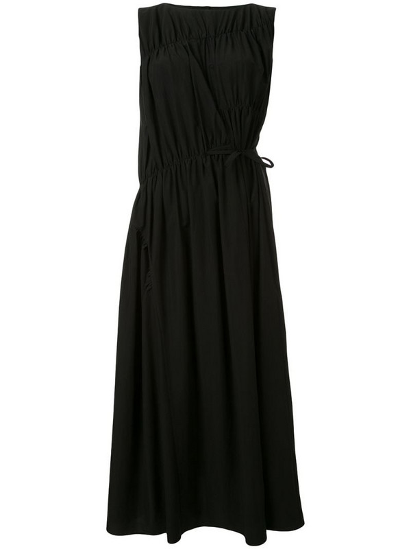 Goen.J multi-directional ruched shift dress in black
