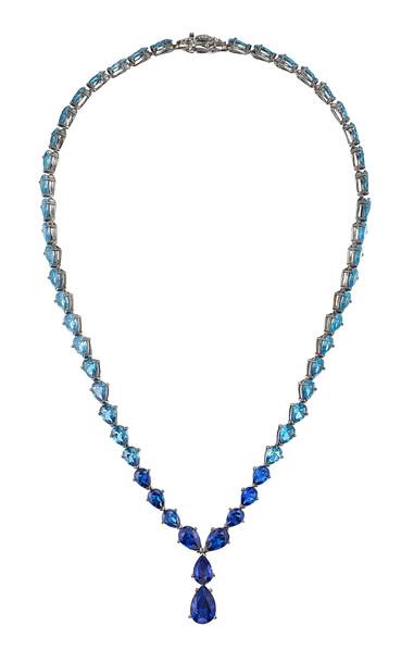 Anabela Chan 18K Blackened Gold Vermeil Aqua Nova Necklace in blue