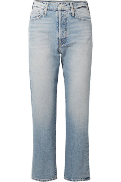 Mother - The Huffy Flood Cropped High-rise Straight-leg Jeans - Light denim