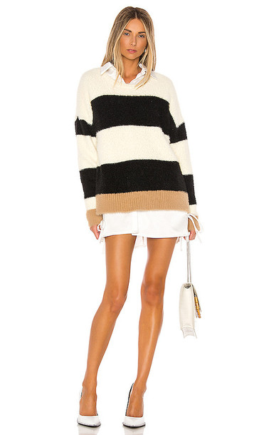 Central Park West Darby Pullover in Ivory