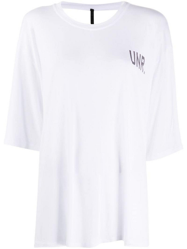 UNRAVEL PROJECT LAX open-back T-shirt in white