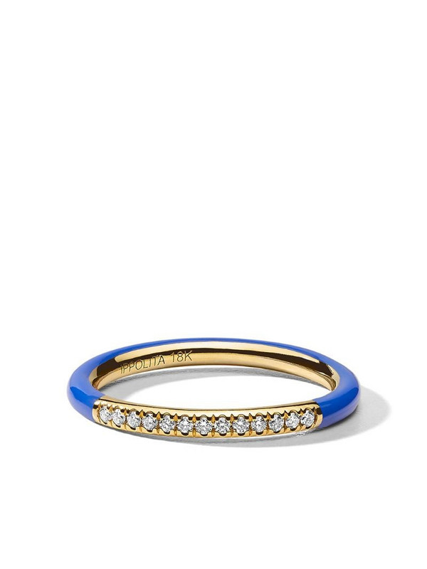 IPPOLITA 18kt yellow gold diamond Stardust band ring
