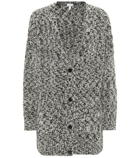 Loewe Oversized Lurex® cardigan in grey