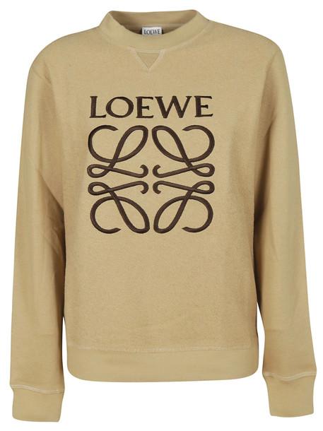 Loewe Logo Embroidered Sweatshirt in beige