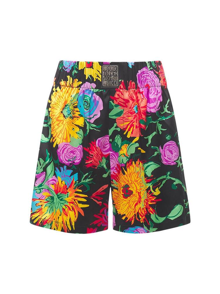 GUCCI Printed Stretch Silk Shorts