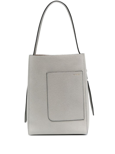Valextra medium bucket tote in grey