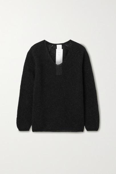 Max Mara - Posato Metallic Ribbed-knit Sweater - Black