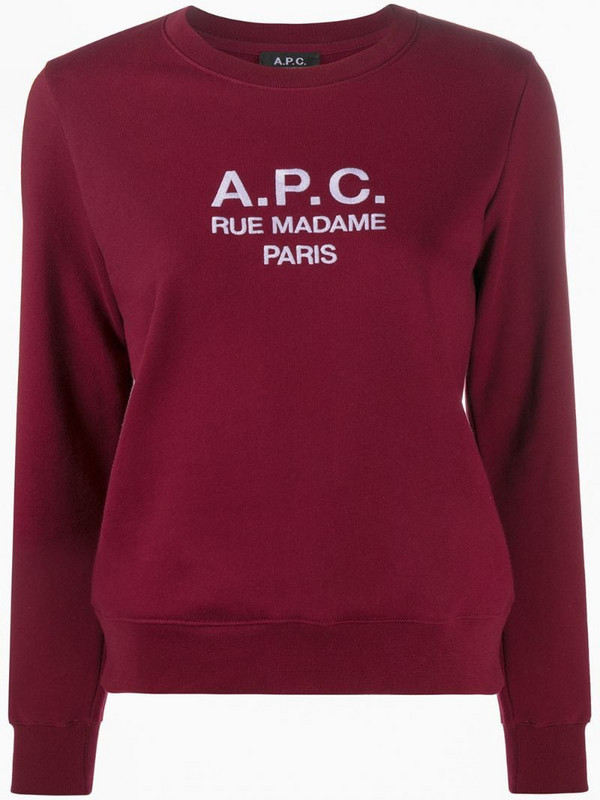 A.P.C. Rue Madame Paris sweatshirt in red