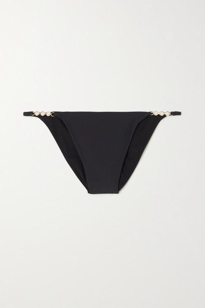STELLA MCCARTNEY - + Net Sustain Embellished Stretch-econyl Bikini Briefs - Black