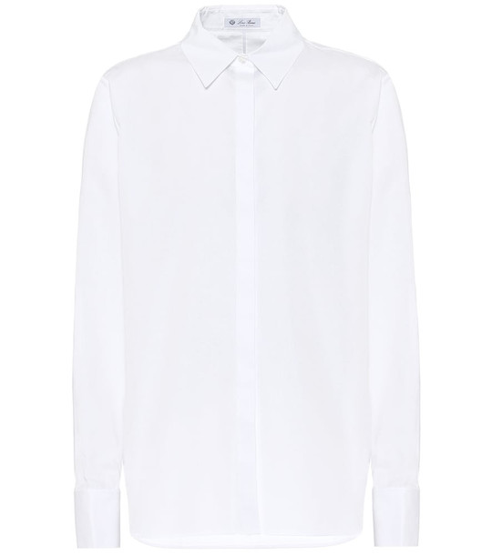 Loro Piana Cotton-poplin shirt in white