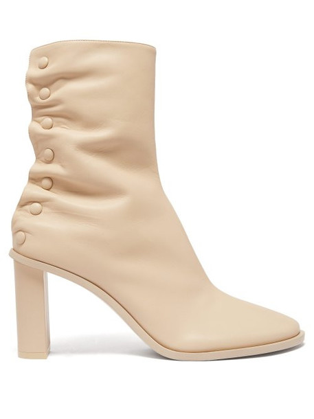 The Row - Tea Time Leather Ankle Boots - Womens - Beige
