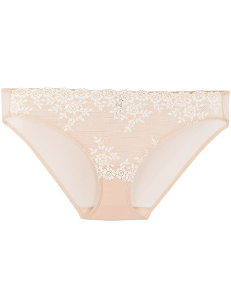 Wacoal floral embroidered briefs in neutrals