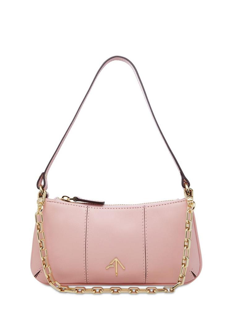 MANU ATELIER Mini Pita Vegetable Leather Shoulder Bag