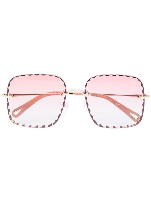 Chloé Eyewear Rosie square-frame sunglasses in pink