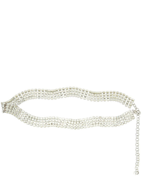ALESSANDRA RICH 25mm Crystal Belt in silver