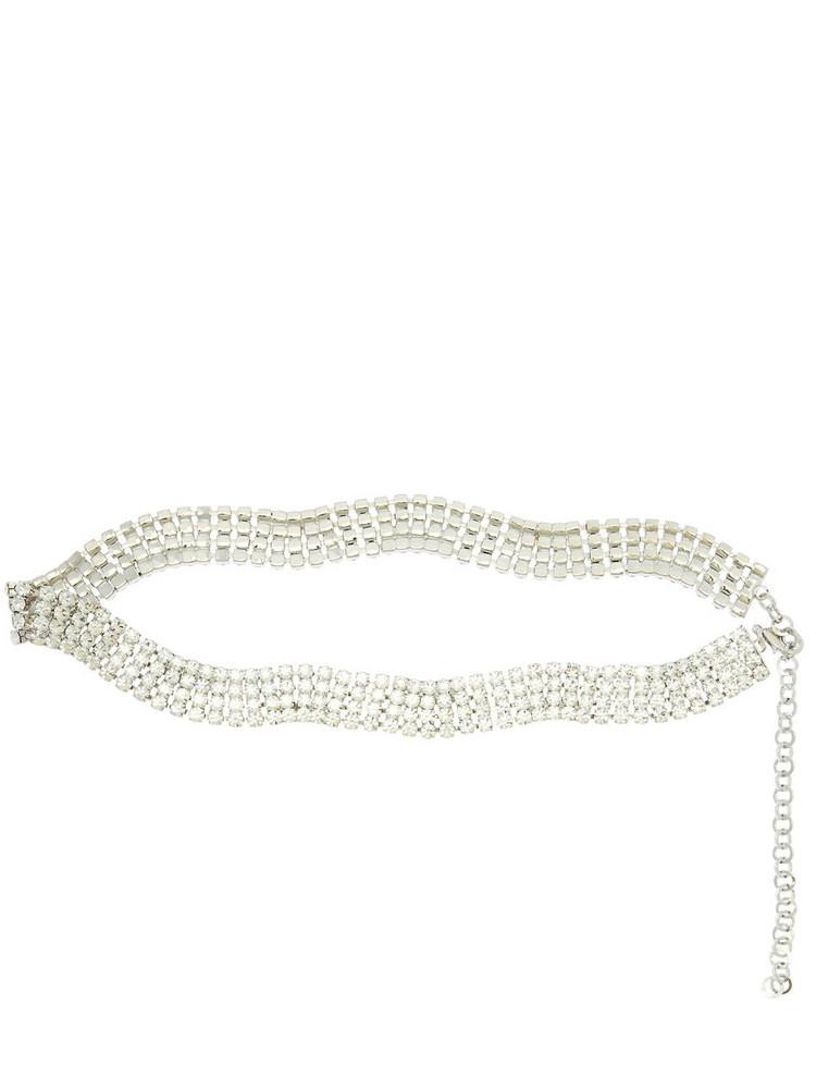 ALESSANDRA RICH 25mm Crystal Belt in silver