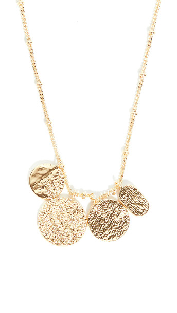 Gorjana Banks Mixed Coin Necklace in gold
