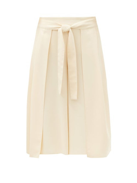 See By Chloé See By Chloé - High-rise Belted Crepe Culottes - Womens - Cream