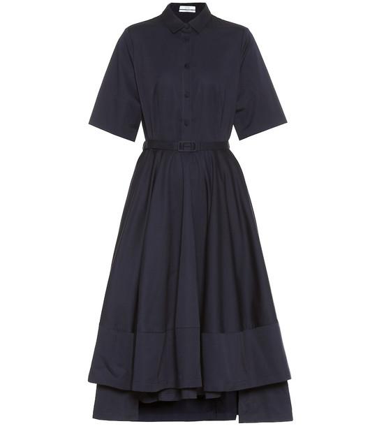 Co Cotton-sateen shirt dress in blue