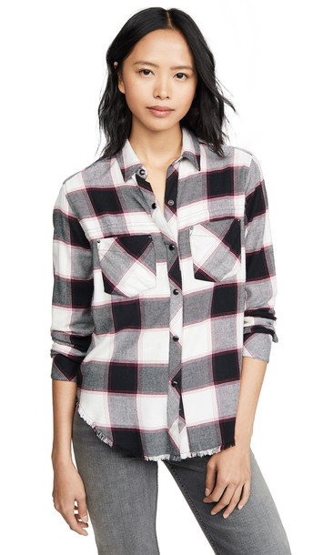 RAILS Leo Button Down Shirt in midnight / magenta / white