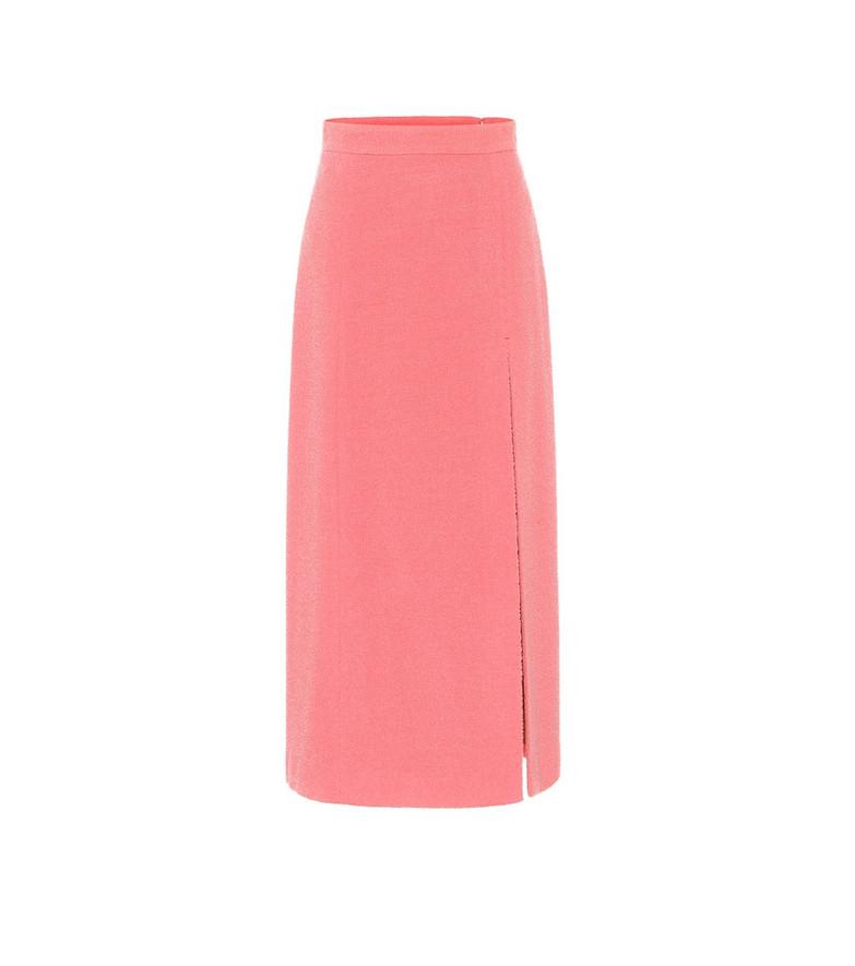Gucci Wool-blend tweed midi skirt in pink
