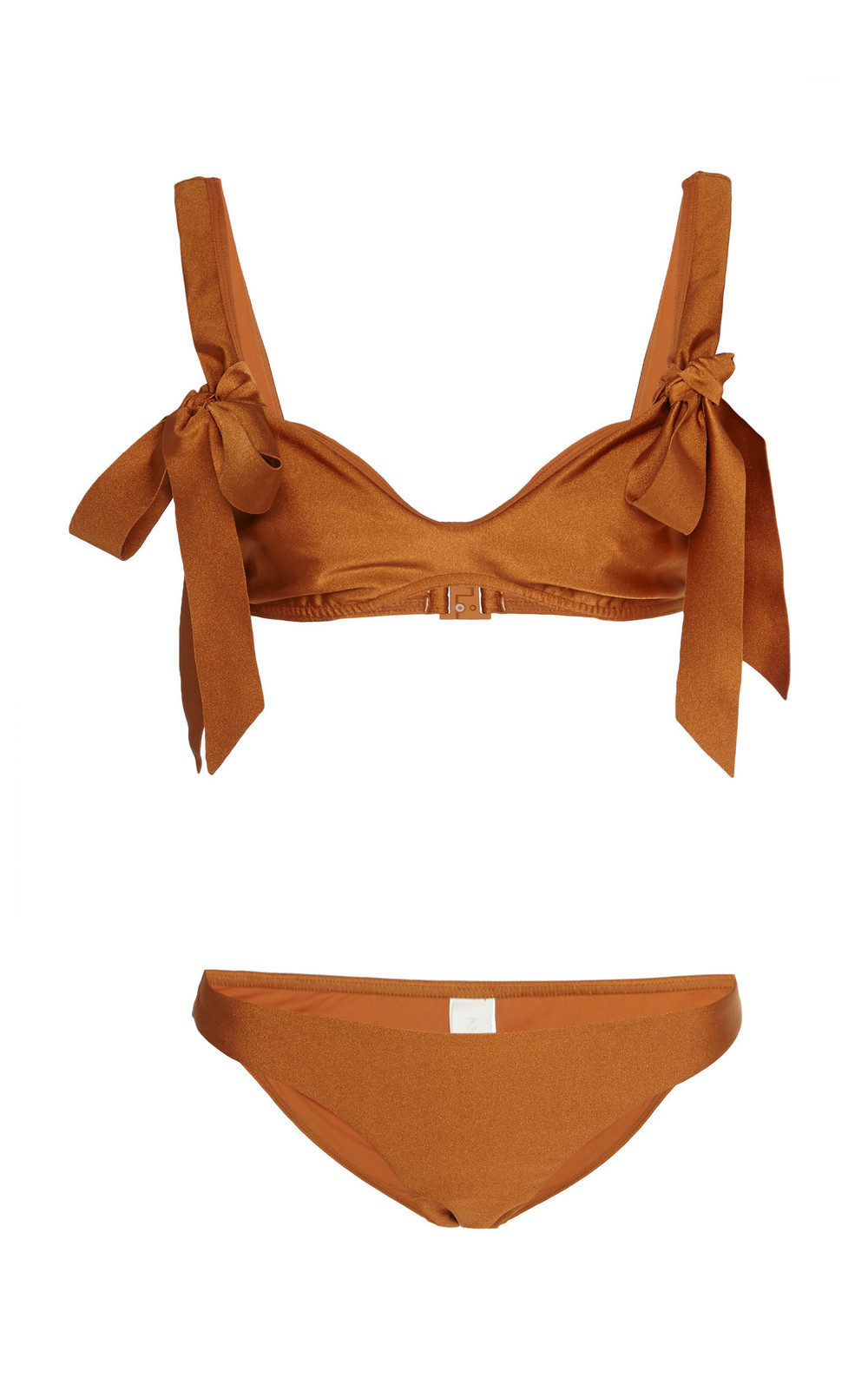 Zimmermann Veneto Bow-Detailed Bikini in brown