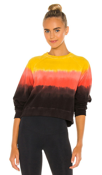 Electric & Rose Ronan Pullover in Black,Yellow