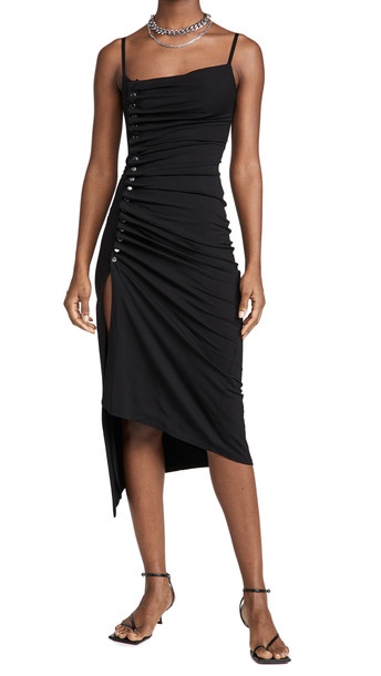 Paco Rabanne Draped Jersey Dress in black