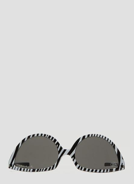 Mykita X Martine Rose Striped Cat Eye Sunglasses in Black size One Size