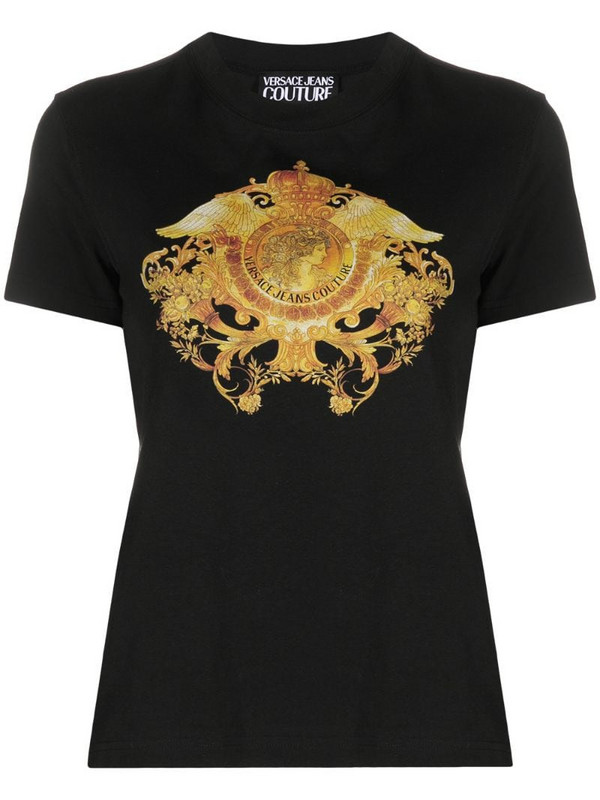 Versace Jeans Couture Rococo Crystal-motif T-shirt in black