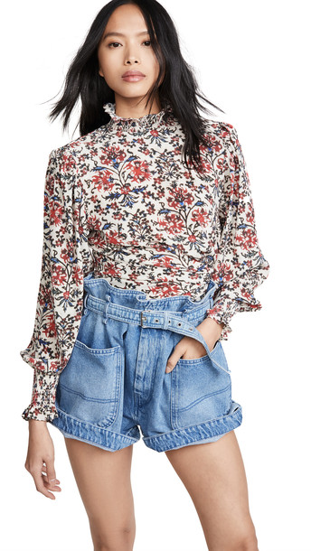 Isabel Marant Fantine Top in red