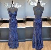 dress,navy,prom dress,prom,sequin dress,mermaid prom dress,backless dress
