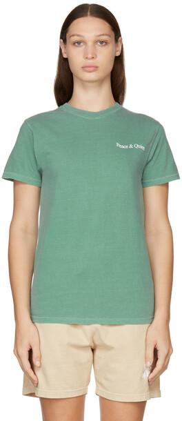 Museum of Peace & Quiet Green Wordmark T-Shirt