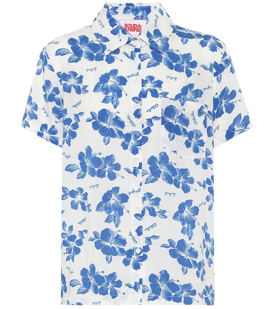 Solid & Striped Cabana floral shirt in white