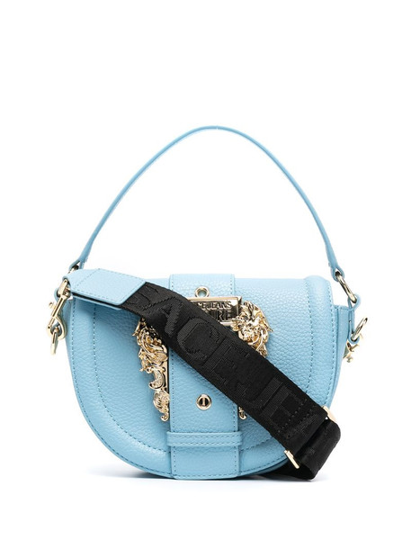 Versace Jeans Couture buckle detail tote bag in blue
