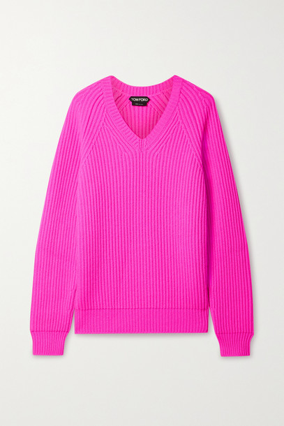 TOM FORD - Ribbed Cashmere Sweater - Pink