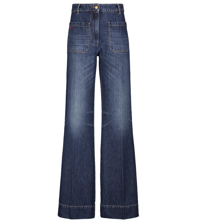 Victoria Beckham Alina high-rise wide-leg jeans in blue