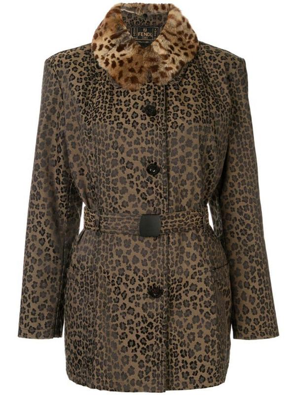 Fendi Pre-Owned long sleeve jacket in brown