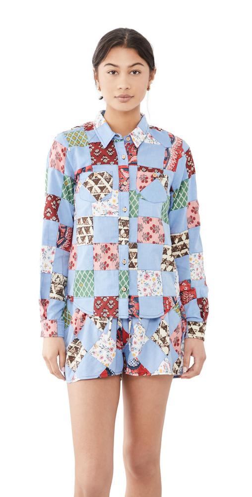 Warm Ripple Shirt in chambray / multi