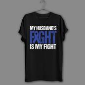top,colon shirt,cancer awareness shirt,i love my husband shirt